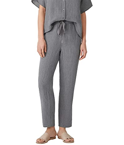 Eileen Fisher Petite Tapered Ankle Pants in Puckered Organic Linen
