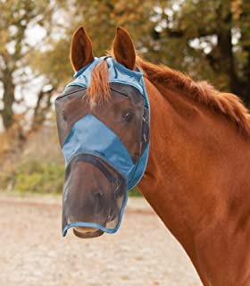 Waldhausen mouches masque Premium avec oreilles et nez Franges-Taubenblau