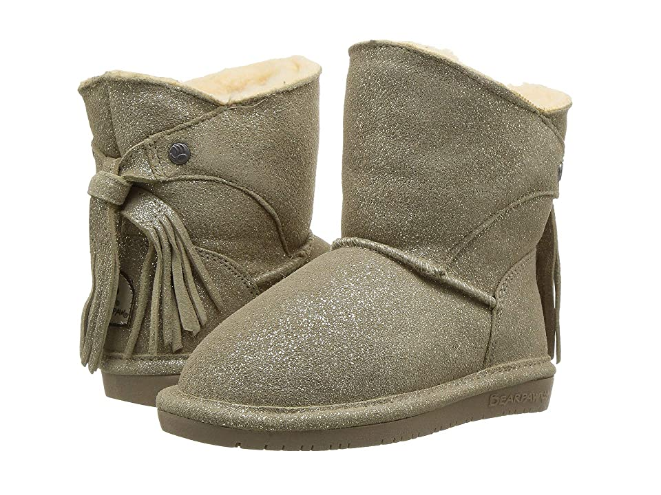 Bearpaw Kids Mia (Toddler/Little Kid) (Pewter) Girls Shoes