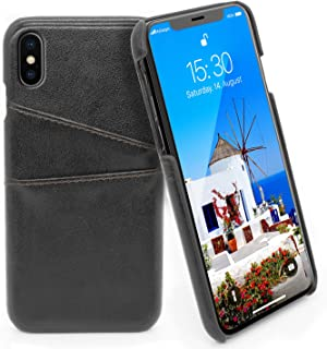 c7bd0fcecef MyGadget Funda Back Case en Cuero PU con Tarjetero para Apple iPhone X/XS -