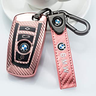 Sponsored Ad - Nonesuper Soft TPU Carbon Fiber Key fob Cover for BMW 1 3 4 5 6 7 Series,BMW X3 X4 M5 M6 BMW GT3 GT5 Key Co...