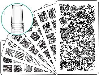 Nail Stamping Plate Nail Stamper – Ejiubas Nail Stamping Kit Nail Art Stamp 3 Pcs..