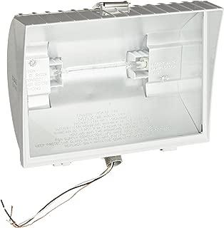 RAB Lighting QF500FW Quartz Curve Floodlight, Aluminum, 500W Power, 11000 Lumens, 120V, White