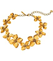 Oscar de la Renta - Gold Flower Necklace