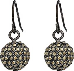 LAUREN Ralph Lauren Pave Ball Drop Earrings