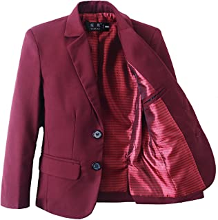 Yanlu Boys Suits Blazer Burgundy Slim Fit Boy Suit Coat