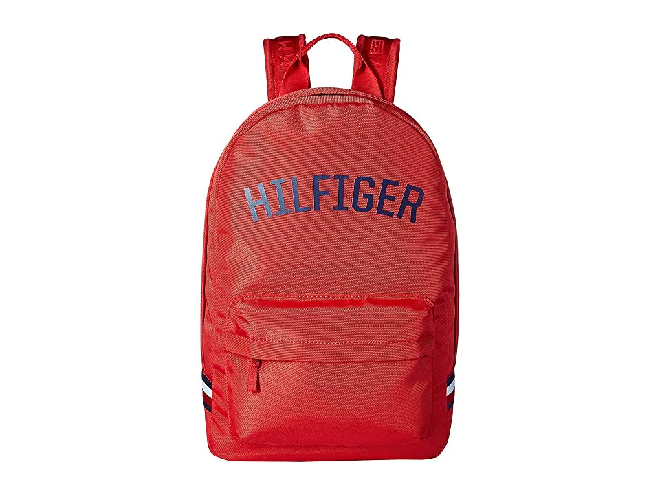 Tommy Hilfiger Zachary Cordura Nylon Backpack (Mars Red) Backpack Bags