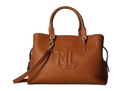 LAUREN Ralph Lauren Hayward 34 Medium Satchel (Lauren Tan) Handbags