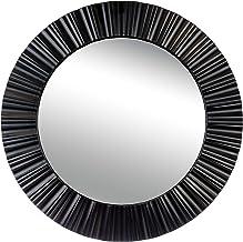 مرآة حائط بحجم 50.8 سم كيراجريس، باللون الأسود، من كي جي