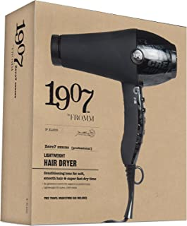 1907 Lightweight Hair Dryer 1800W #NLA005, Lightweight motor, 1800 watts, lightweight, filter cap, salon, soft hair, smooth hair, ions, conditioning, diffuser, concentrator, minimizes damage, fast drying, professional, salon,