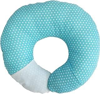 Babymoon Pod 4-in-1 Multipurpose Infant Pillow for Flat Head Prevention, Tummy Time, Nursing, Travel (Aqua Dot)