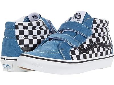 Vans Kids SK8-Mid Reissue V (Big Kid) ((Checkerboard) Black/Navy) Boys Shoes