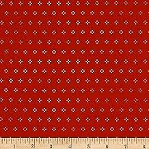 Riley Blake Designs 0581310 Riley Blake Autumn Love Cross Stitch Red Fabric by The Yard