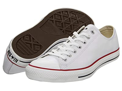 Converse Chuck Taylor(r) All Star(r) Leather Ox (White/Leather) Shoes