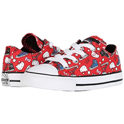 Converse Kids Hello Kitty(r) Chuck Taylor(r) All Star(r) Ox (Infant/Toddler) (Fiery Red/Black/White) Girls Shoes