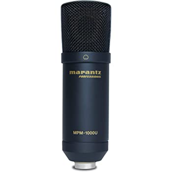 Marantz Pro MPM1000U - USB Condenser Studio Microphone with Built In Audio Interface, Cable, Perfect for Podcast Production
