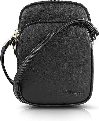N\C Damen Schultertasche PU Leder Handtaschen Handy Umhängetasche Frauen Brieftasche Geldbörse mit Verstellbar Abnehmbar Schultergurt