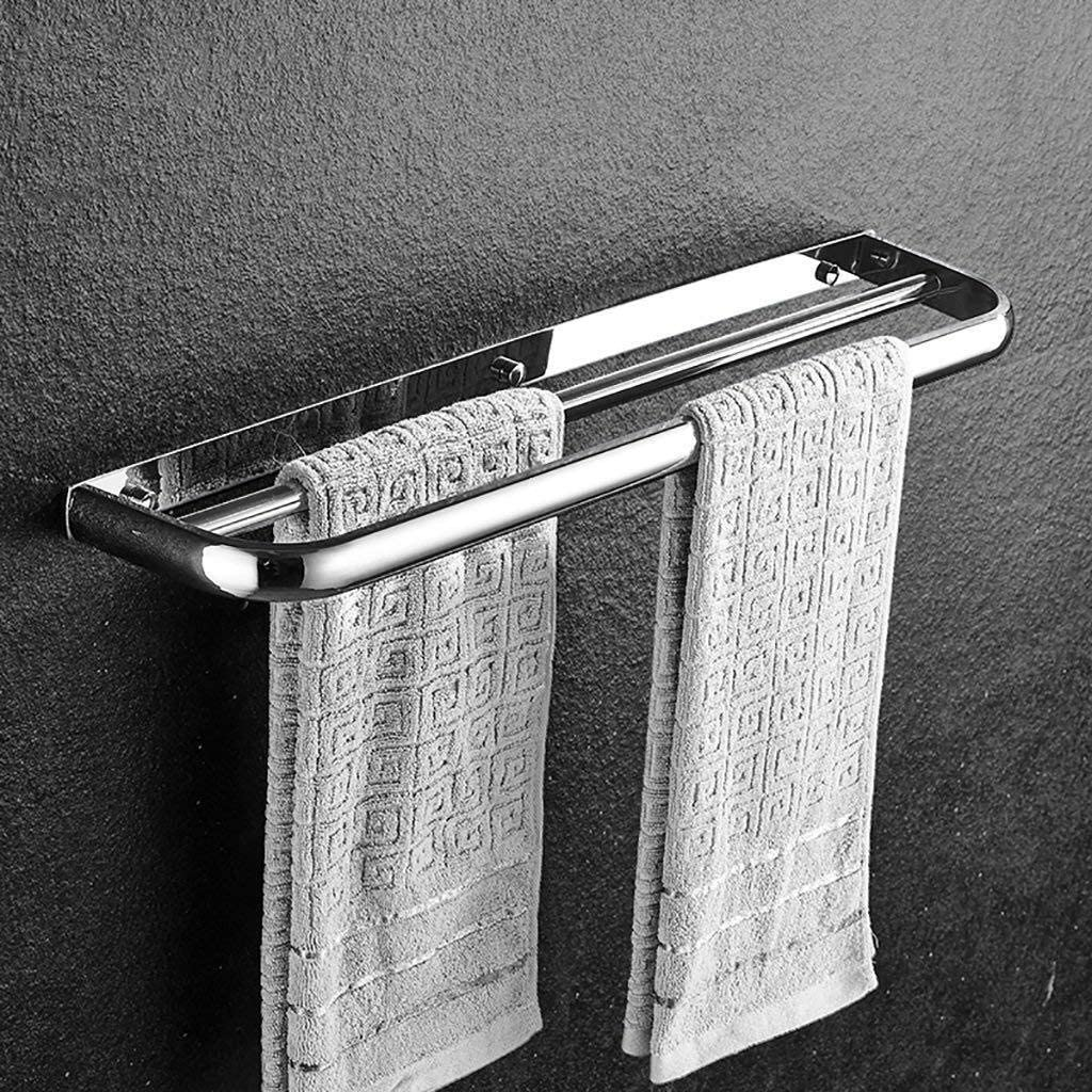 304 Stainless Steel online shopping Towel Bar Hanging Bathroom Double Rod Trust Hardwa