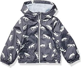 Osh Kosh Boys' Toddler Midweight Fleece Lined Windbreaker Jacket, Glow in The Dark, 3T