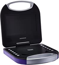 Magnavox MTFT750-PL Purple 7 Inch Portable DVD Player With Remote Control, And Car Adapter, TFT Screen, CD Player