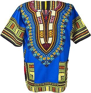 Lofbaz Traditionell afrikansk unisex Dashiki-skjorta färg tribal festival hippie
