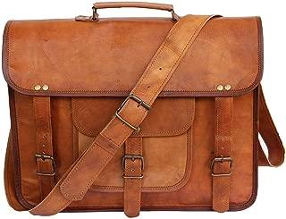 Original Leather Messenger bag, Office bag, Sling bag, Tablet Bag 9 inches Brown