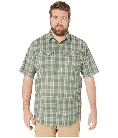 Columbia Big and Tall Silver Ridge Lite Plaid Short Sleeve Shirt (Cypress Buff Check) Men