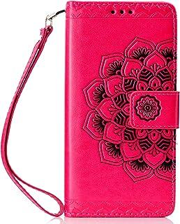 Lomogo Huawei P30 Pro ケース 手帳型 耐衝撃 レザーケース 財布型 カードポケット スタンド機能 マグネット式 ファーウェイP30Pro 手帳型ケース カバー 人気 - LOHHA030199 バラ色