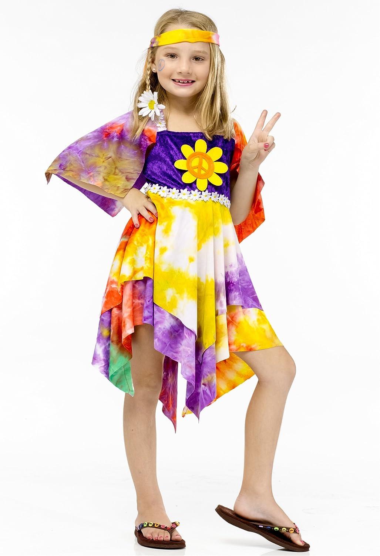 Big Girls' Daisy Hippie Costume 4-6 Small San Antonio Mall Ranking TOP2