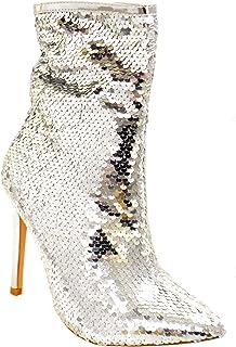 Belle Marie Manafaru 女士尖头细高跟亮片短靴