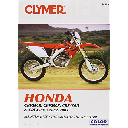 Amazon.com: Clymer Honda CRF250R, CRF250X, CRF450R & CRF450X (2002-2005):  Ron Wright: Automotive   2005 Honda Crf250x Wiring Diagram      Amazon.com