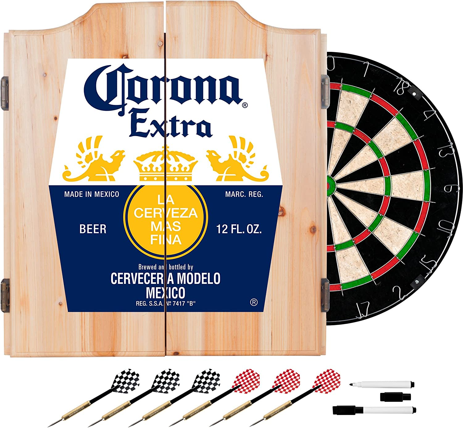Cgoldna Extra Dart Board Set with Cabinet  Label  by Cgoldna