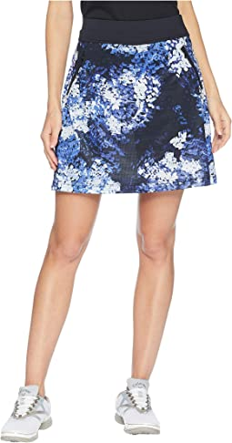 "18"" Knit Skort w/ Brush Stroke Printed Mesh"