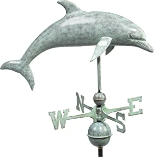 Good Directions Dolphin Weathervane, Blue Verde Copper
