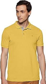 United Colors of Benetton Men's Plain Regular fit Polo (19P3DTPE0032I_35R_Yellow_Large)
