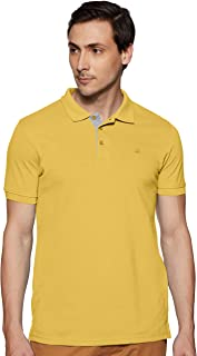 United Colors of Benetton Men's Plain Regular fit Polo (19P3DTPE0032I_35R_Yellow_Large)