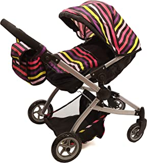 Babyboo Twin Stroller/Doll Pram- Deluxe Little Marcel Look Includes a Carriage Bag