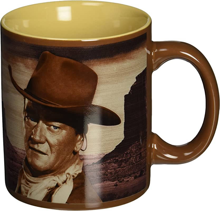 Vandor 15161 John Wayne A Man S Got To Do 12 Oz Ceramic Mug Brown SS VG 15161