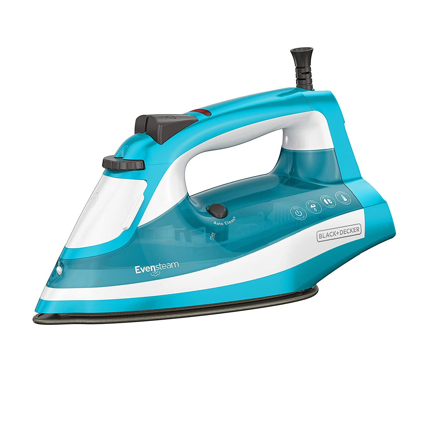 BLACK+DECKER IR16X One-Step Garment Steam Iron with Stainless Nonstick Soleplate, One Size, Turquoise