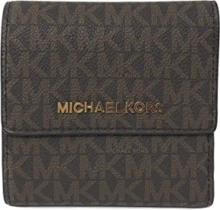 7583172e9956 Michael Kors Jet Set Travel PVC Signature Small Card Case Trifold Wallet