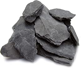 Natural Slate Stone -1 to 3 inch Rocks for Miniature or Fairy Garden, Aquarium, Model Railroad & Wargaming (2)