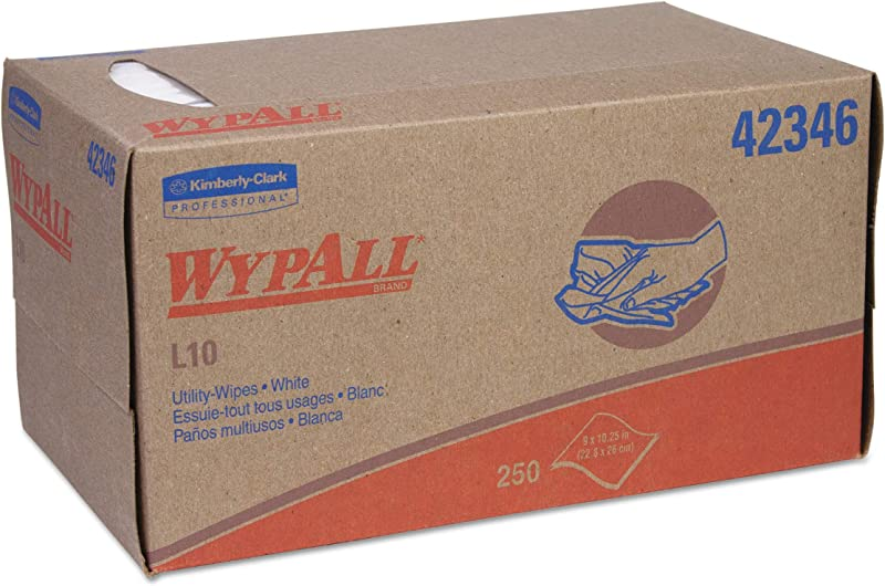 WypAll 42346 L10 Towels POP UP Box 1 Ply 10 1 4 X 9 White 250 Per Box Case Of 24 Boxes