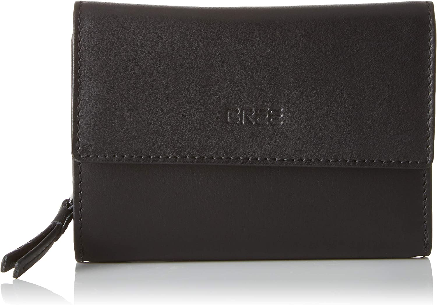 BREE Collection Liv New 110, Black Smooth, Long Purse, Women's Wallet, (Black Smooth), 2.5x10x14.5 cm (B x H T)