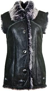 Womens Sheepskin Vest, Lambskin Vest, Gilet/KK-0001