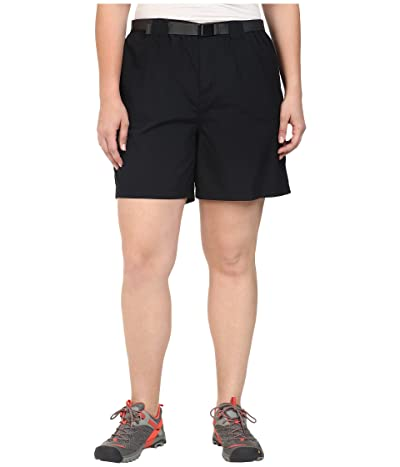 Columbia Plus Size Sandy Rivertm Cargo Short (Black) Women