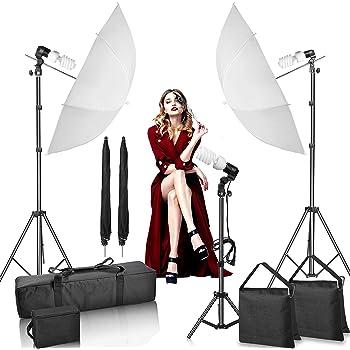 Xiejuanjuan Light Reflector for Any Photography Situation 42 Inches Photography Reflector Lights White Umbrella Lighting Kit Continuous Translucent Soft Umbrella for Photo Portrait