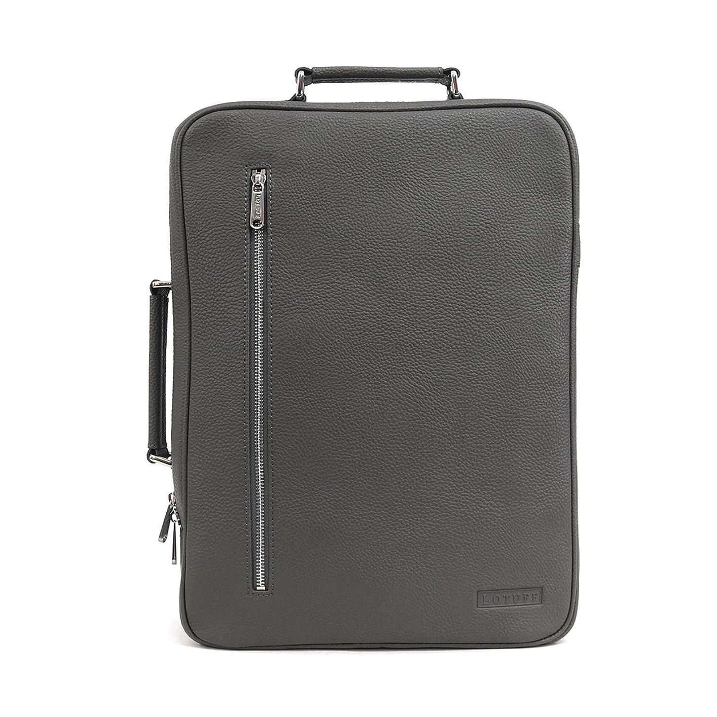最高協力するリスナーLOTUFF(ロトプ) 5 Color バックパック ブリーフケース ビジネスバッグ デイパックLO-1010 PCバッグ メンズ レディース Leather Backpack 2way [並行輸入品]