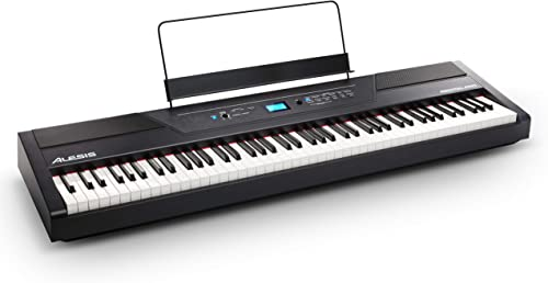 Alesis Recital Pro | Digital Piano / Keyboard with 88 Hammer Action Keys, 12 Premium Voices, 20W Built in Speakers, H...