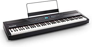 Alesis Recital Pro - Digital Electric Piano / Keyboard with 88 Weighted Hammer Action Keys, 12 Premium Voices and Built in Speakers