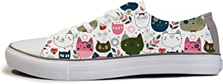 Rivir Latest & Stylish Printed Canvas Unisex High Top Sneakers Shoes White
